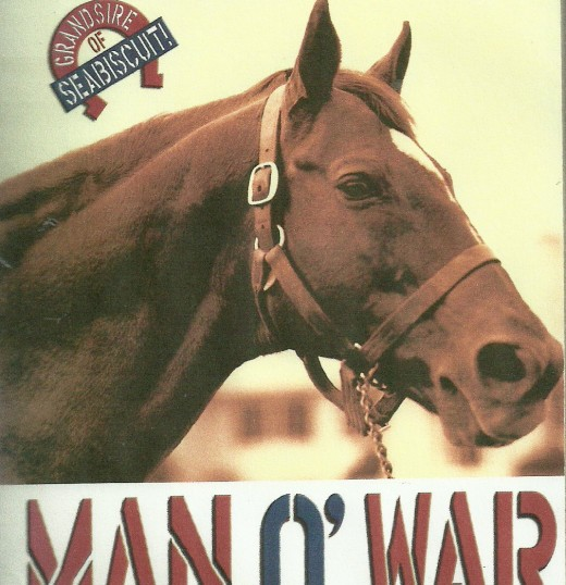 Man o' War was the most publicized Thoroughbred of his time (1920s).