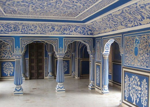 One of the gorgeous rooms within the City Palace of Jaipur