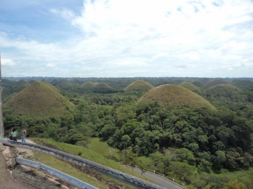 The famous Chocolate Hills, one of the wonders of the world