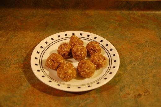 delicious quinoa, peanut butter, Nutella balls