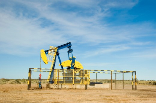 Oil Pump Jack in the Argentine Desert
