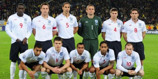 England's World Cup 2010 team.