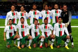 Portugal's World Cup 2010 team.