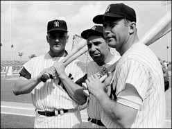With Mickey Mantle and Roger Maris
