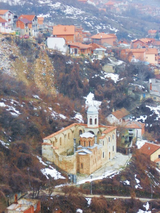 Bombed out Orthodox Church, Kosovo