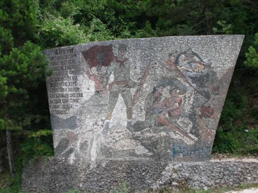 Partizan memorial. Near Dhermi, Albania