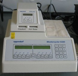 A thermal cycler - a key piece of equipment used in the Polymerase Chain Reaction (PCR - sort of molecular photocopying), which in turn is a key technique in Molecular Biology