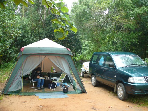 Typical camp site in South Africa-Hamburg near East LOndon