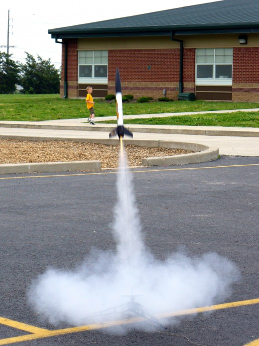 The most exciting part of making homemade rockets - The Launch!
