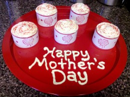 Our finished Mother's Day cupcakes!