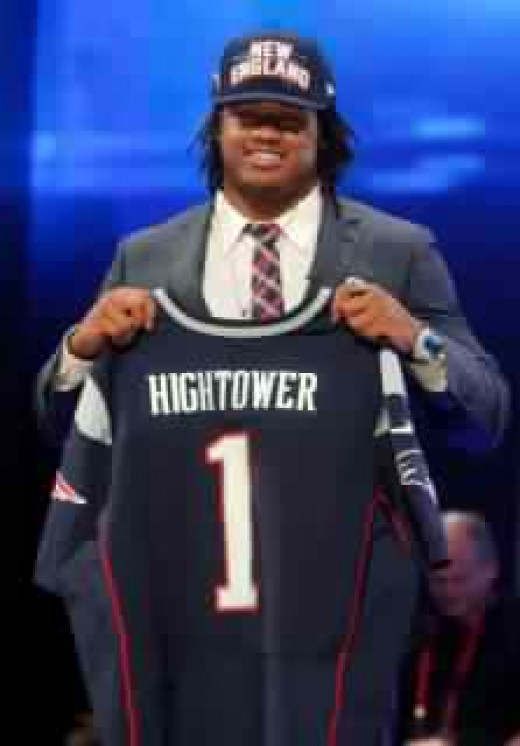 Dont'a Hightower rounded out an action packed and surprising day for the Patriots in round 1.