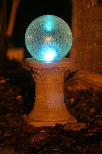 Chameleon Crackled Glass Globe