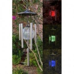 Hummingbird Solar Wind Chimes