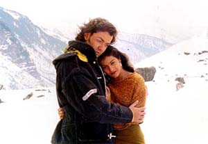 Bobby Deol and Kajol in Gupt.
