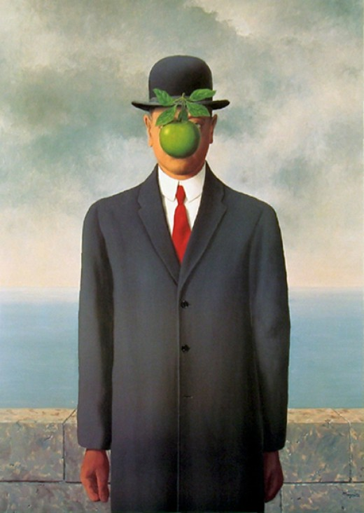 The Man in the Bowler Hat by Rene Magritte