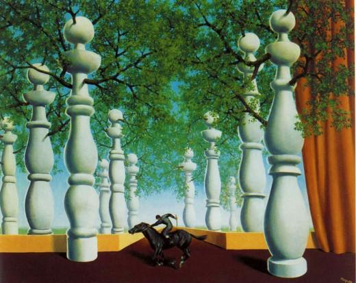 Le jockey perdu, by Rene Magritte