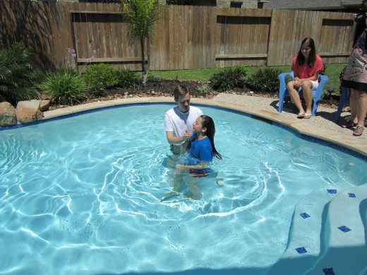 The baptism in the holy name of Christ Jesus.