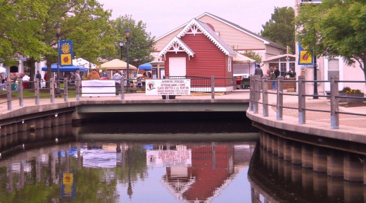 Milford Riverwalk during annual Bug and Bud Festival.