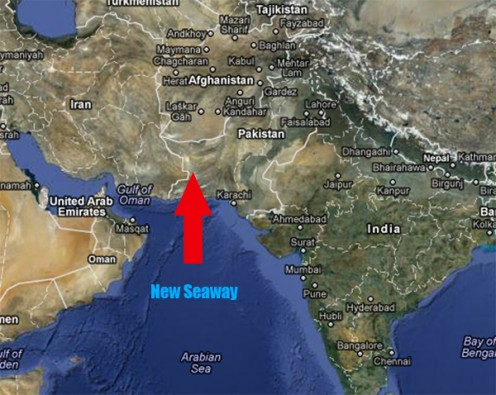 A New Seaway will open up in western Pakistan and Afghanistan.