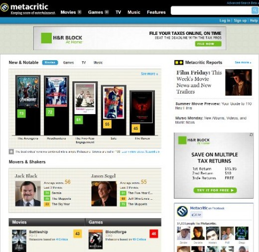 Metacritic. The site I love to hate.
