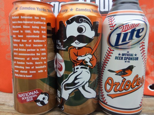 The 2012 National Bohemian beer can commemorating the 20th anniversary of Oriole Park at Camden Yards & the 2012 Miller Lite Baltimore Orioles can.We can only hope this means a new beginning for the Orioles who haven't seen the post season since 1997
