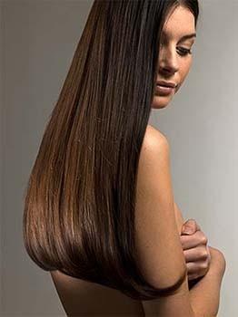 Hair after keratin treatment