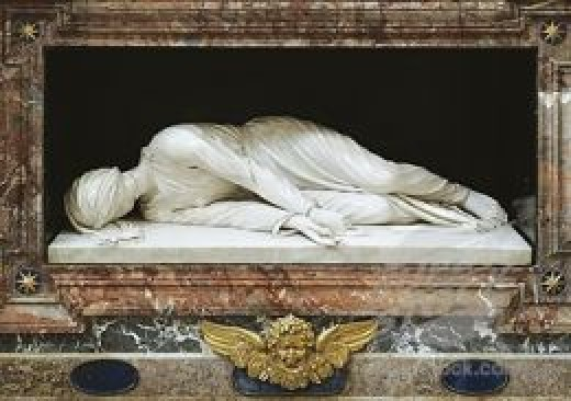 This is how St. Cecilia's body was found in 1599