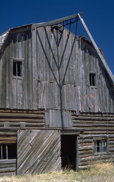 Ours was an old gray wood barn.