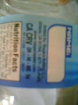 California Refund Value (CRV) label