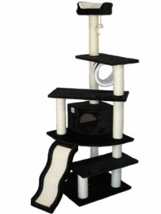 "GoPetClub 70"" Cat Furniture Tree Condo Scratcher Post Pet House"