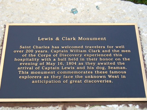 Information about the huge sculpture of Lewis and Clark.