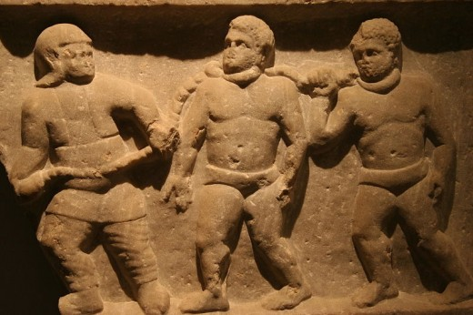Roman slaves. Although Roman slaves had no legal rights, they could sometimes start businesses and buy their own freedom.