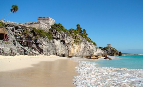 The small beach at the ruins is closed at times to protect nesting sea turtles but offers stunning views of the ruins.