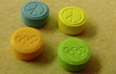 Ecstasy is brightly colored, like candy, and may have appealing imprints.
