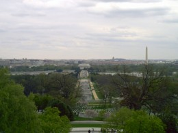 A view of the Washington Monument from Arlington National Cemetery