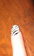zebra striped nails