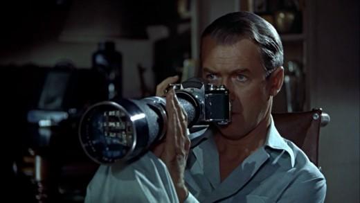 """Jimmy Stewart in """"Rear Window"""""""