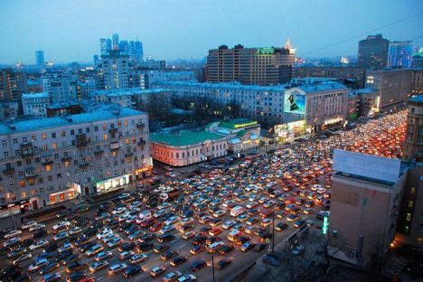 Street Traffic in Moscow