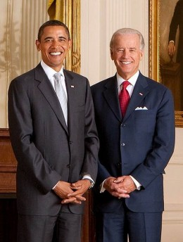 """President Obama and Vice President Biden, both of whom worked hard to get the Healthcare Reform Act (nicknamed """"Obamacare"""") passed"""