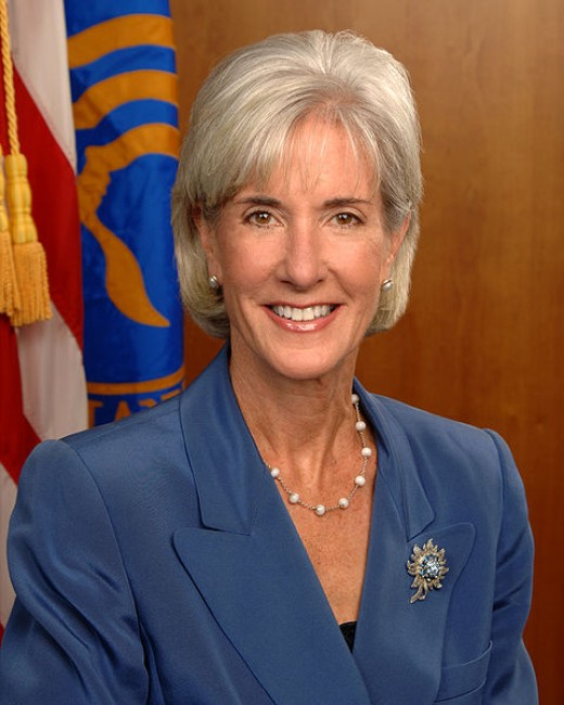 Kathleen Sebelius, Secretary of Health and Human Services. The Department of Health and Human Services administers Medicare