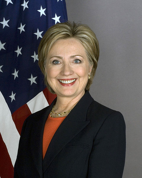 Secretary of State Hilary Clinton. During the first term of her husband, Bill Clinton, as President, she was in charge of healthcare reform.