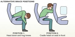 Surviving a plane crash: Stay in the brace position or jump and take your chances with the freefall?
