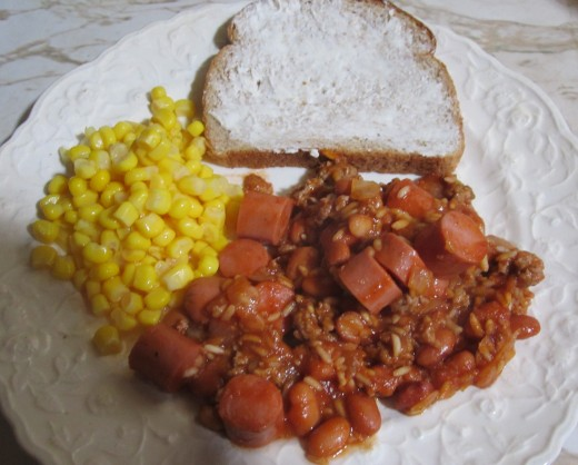 how to make hot dogs and beans
