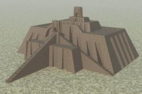 Computer depiction of the Ziggurat of Ur