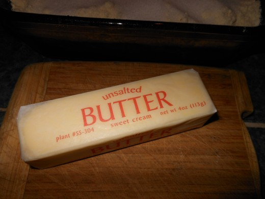 You will need half a stick of unsalted butter.