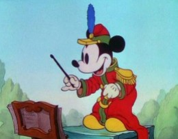 Mickey in The Band Concert, his first color short film.