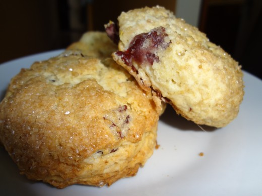 Heavenly Scones with Blueberries and Lemon Zest