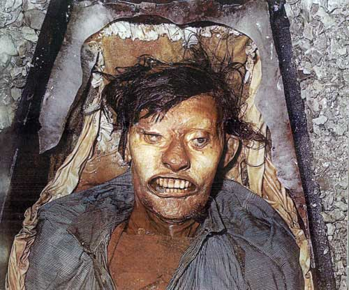John Hartnell, buried alongside Torrington, was also found to be perfectly preserved.