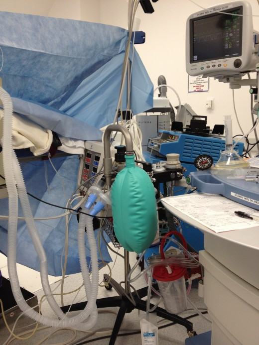 The anesthesiologist's view of your operation.