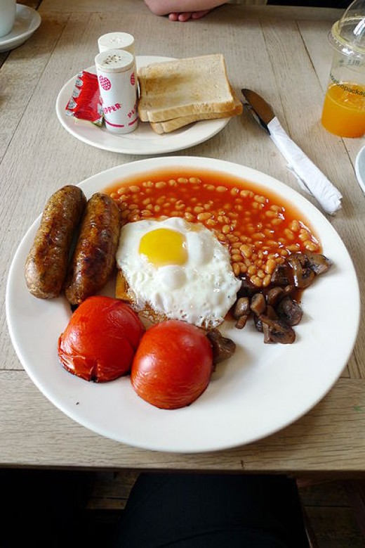 Full English with Veggie Sausages